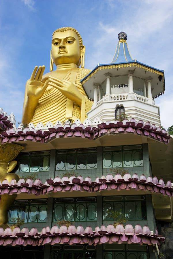 för lankasri för dambulla guld- tempel royaltyfri fotografi
