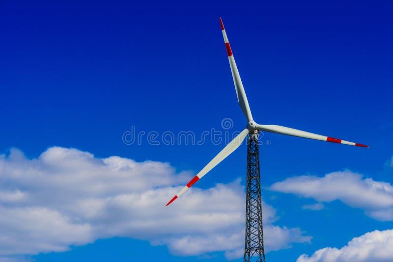 för lantgårdkälla för alternativ energi wind för turbiner Väderkvarn royaltyfria bilder