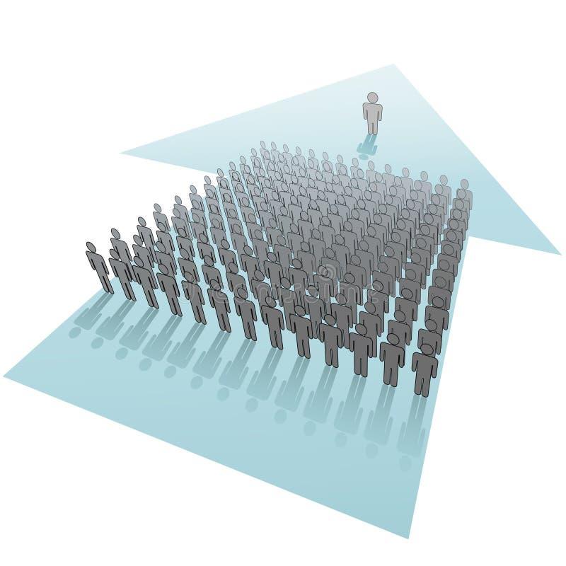 för ledareleads för pil framtida progress för folk royaltyfri illustrationer