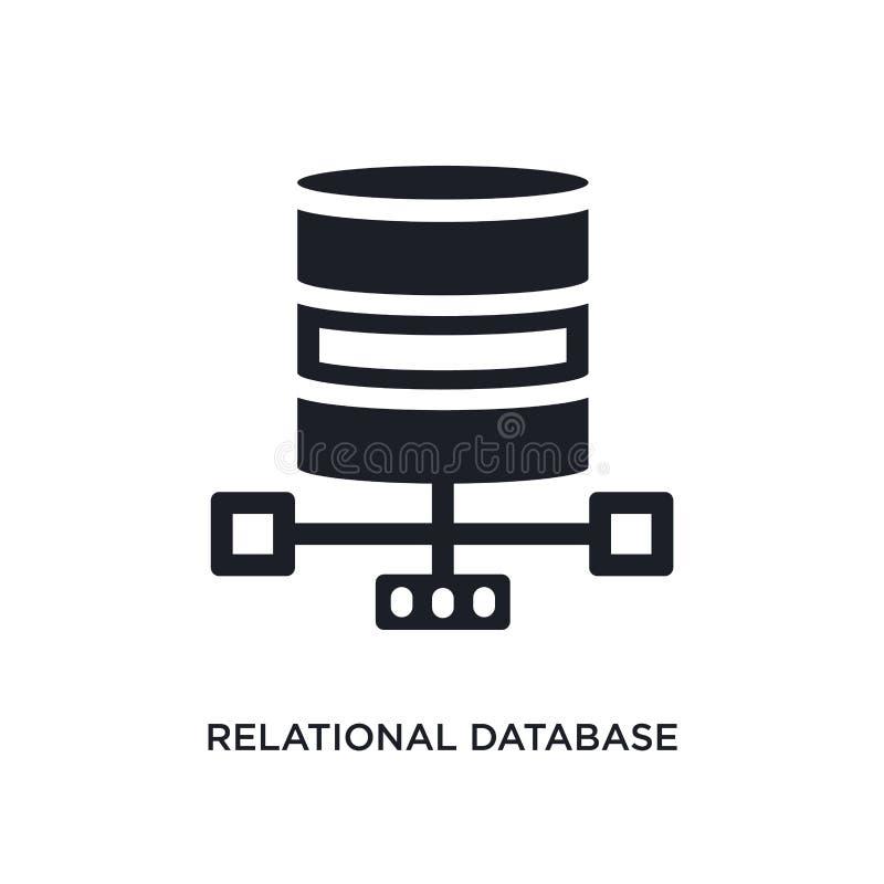 för ledningsystem för relations- databas isolerad symbol enkel beståndsdelillustration från teknologibegreppssymboler relations- royaltyfri illustrationer