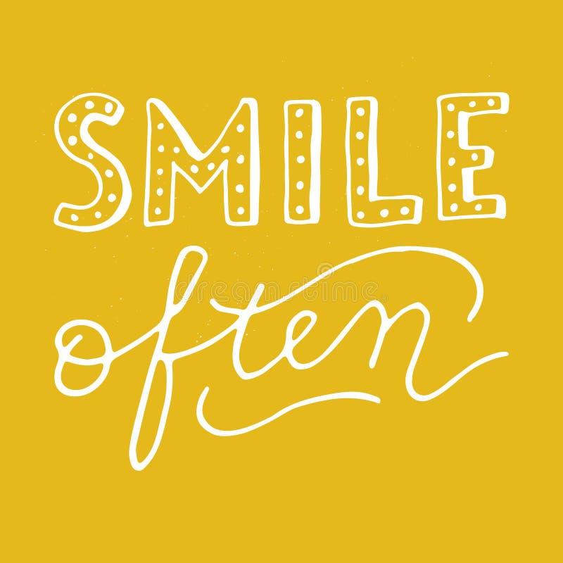 För leende kort ofta royaltyfri illustrationer