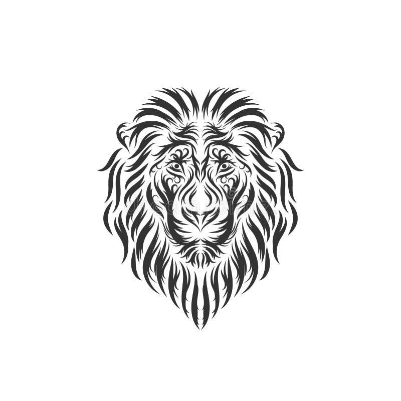 För lejonhuvud för hand utdragna inspirationer royaltyfri illustrationer