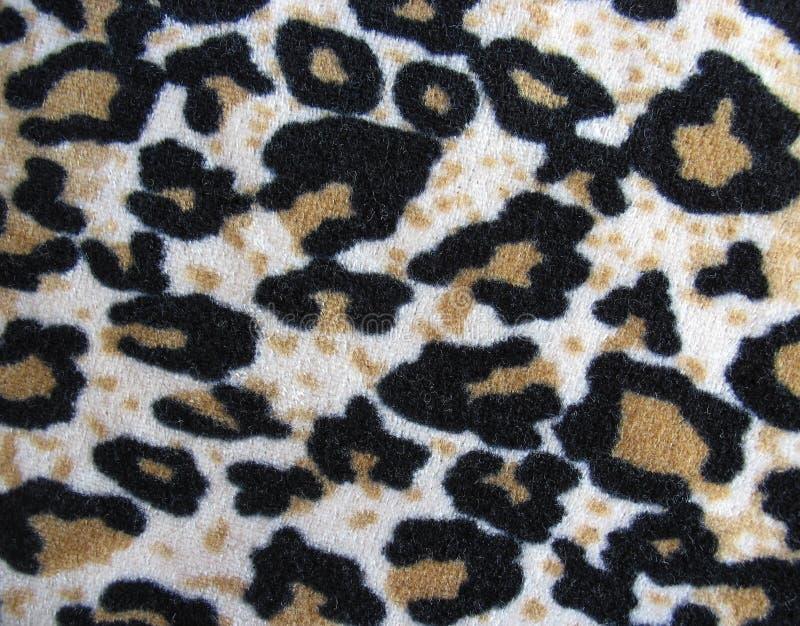 för leopardhud för brunt tyg fleecy white arkivbilder
