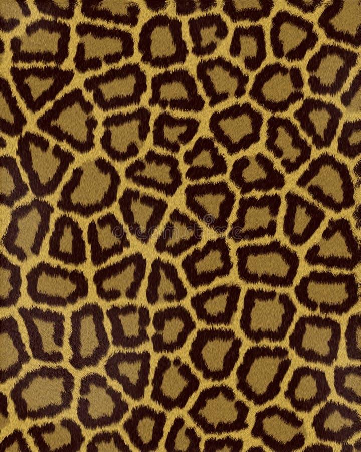 för leopardkortslutning för päls stora fläckar vektor illustrationer