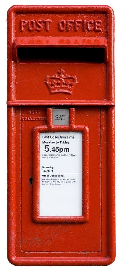 för letterbostolpe för ask brittisk red arkivfoton