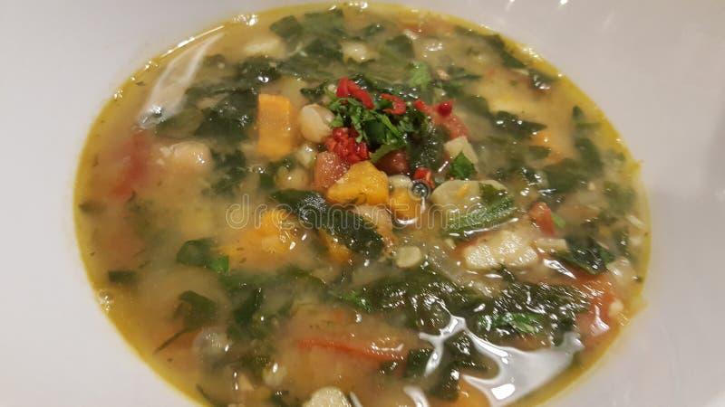 för linmitt för östlig mat libanesisk soup royaltyfri foto