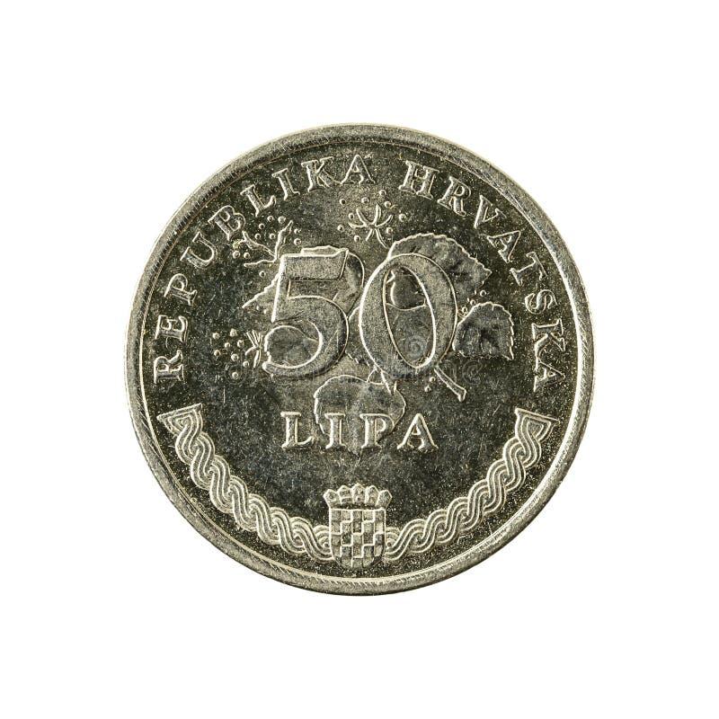 för lipamynt för 50 kroat avers 2011 arkivfoton
