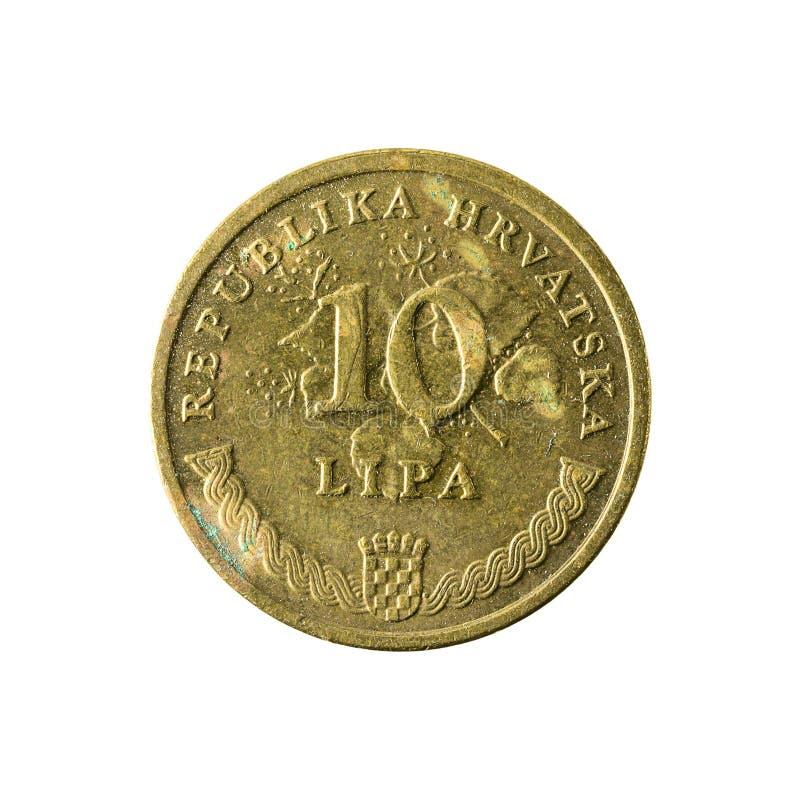 för lipamynt för 10 kroat avers 2007 royaltyfria foton