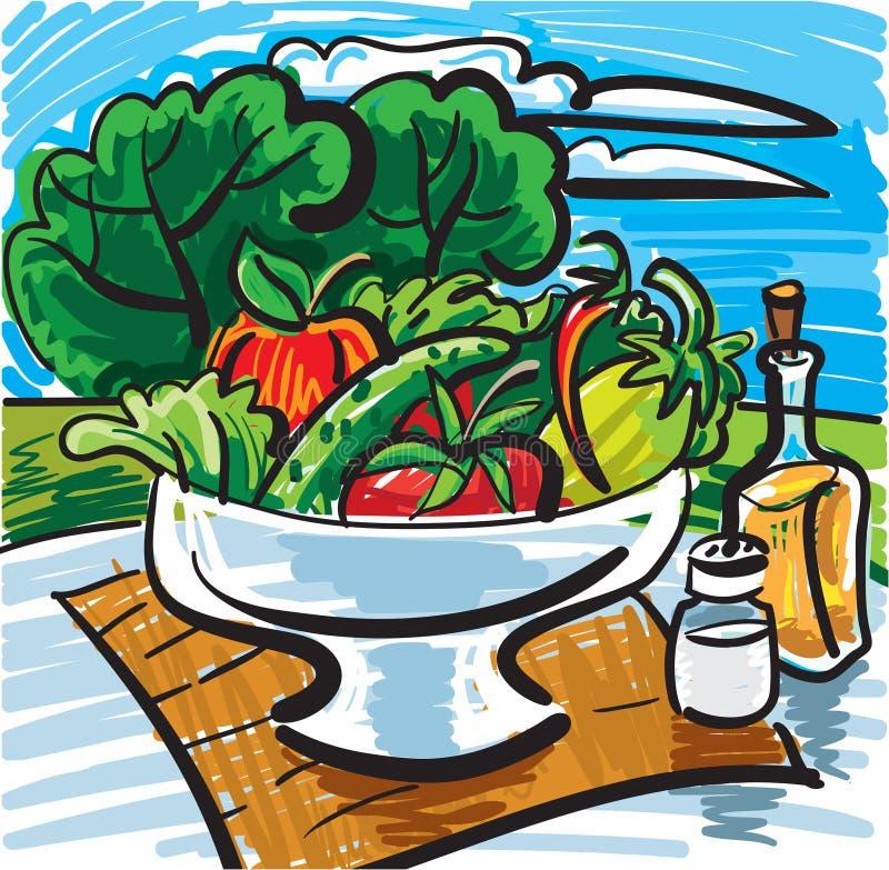för livstid grönsaker fortfarande stock illustrationer