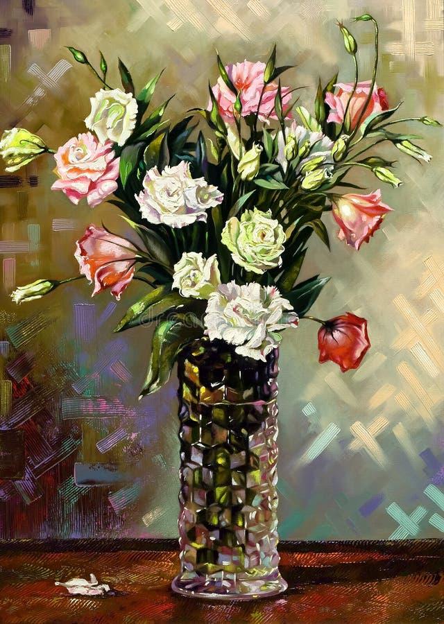 för livstid vase fortfarande royaltyfri illustrationer