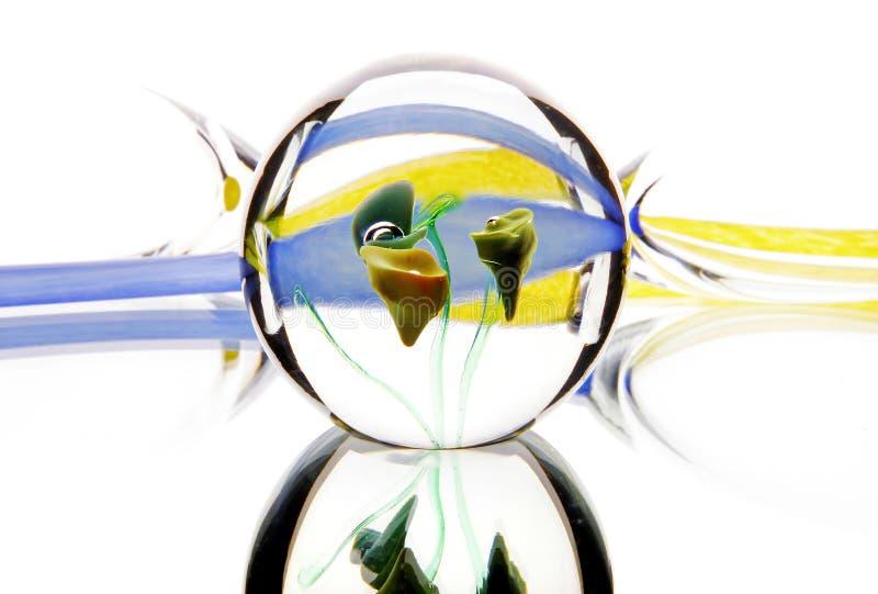 För ljusabstraktion för Glass spegel ferie arkivfoto