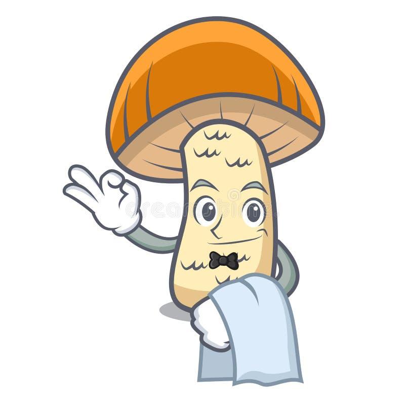 För locksopp för uppassare orange tecknad film för maskot för champinjon stock illustrationer