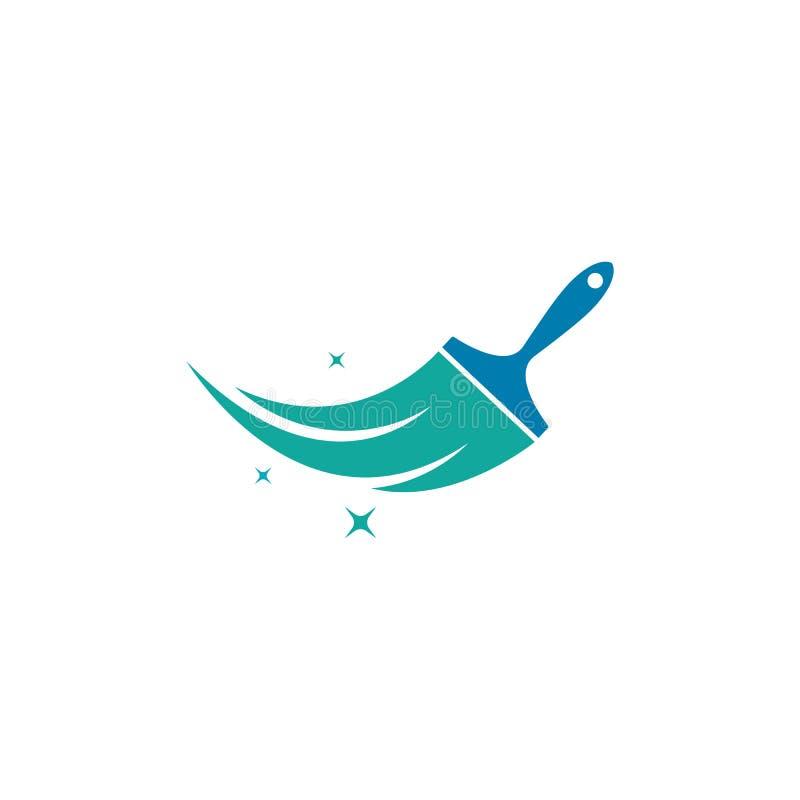 För Logo Template för målarfärgborste illustration för symbol vektor vektor illustrationer