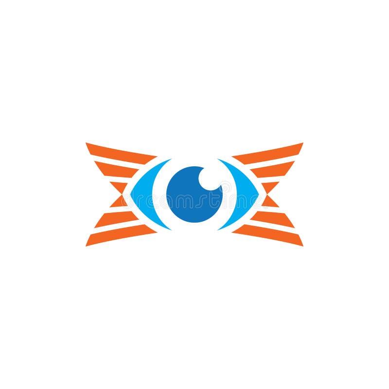 För logoaffär för öga optisk design stock illustrationer
