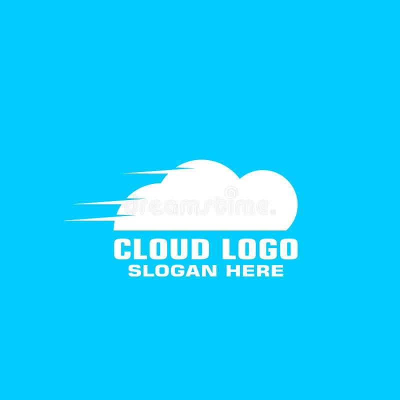 För logobegrepp för moln beräknande mall vektor illustrationer