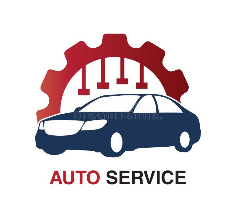 För logodesign för automatisk tjänste- begrepp stock illustrationer