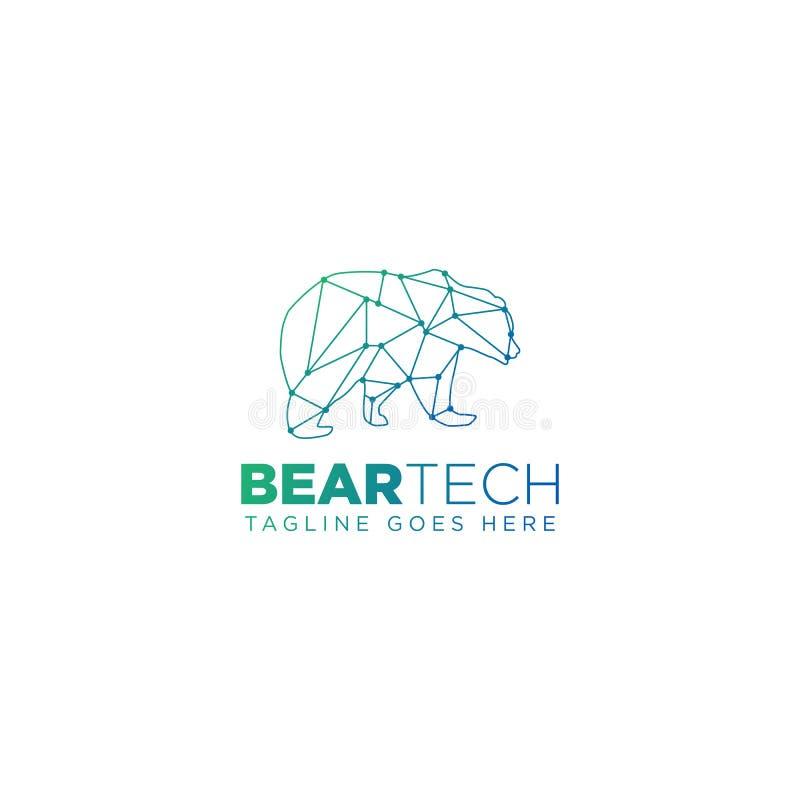 för logodesign för björn geometrisk beståndsdel för symbol för illustration för vektor royaltyfri illustrationer