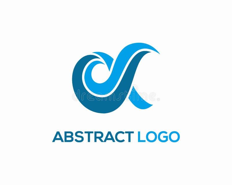 För logodesign för bokstav D vektor, initial logomall för D royaltyfri illustrationer
