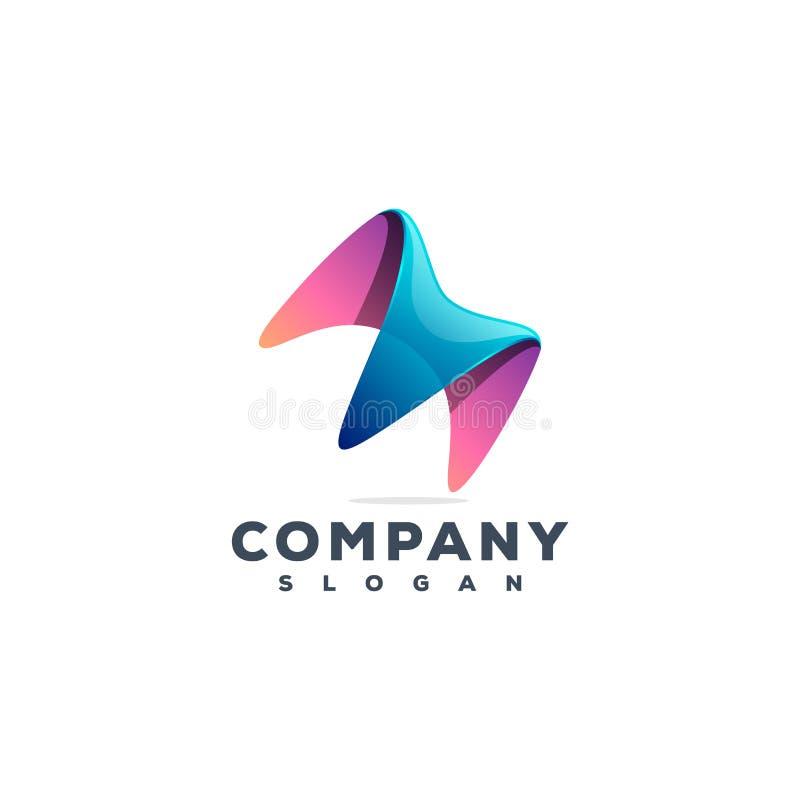 För logodesign för bokstav M original- och klart idérik logo att använda för ditt företag royaltyfri illustrationer