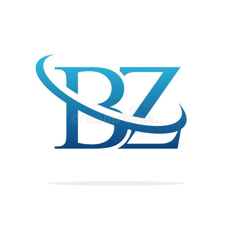 För logodesign för BZ idérik konst för vektor royaltyfri illustrationer