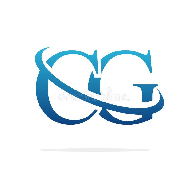 För logodesign för CG idérik konst för vektor stock illustrationer