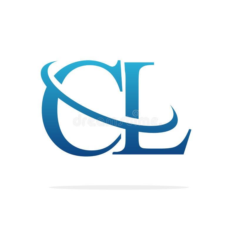 För logodesign för CL idérik konst för vektor vektor illustrationer