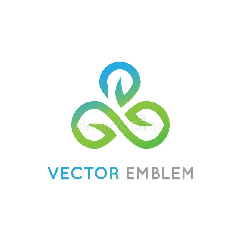 För logodesign för vektor abstrakt mall för alternativ royaltyfri illustrationer