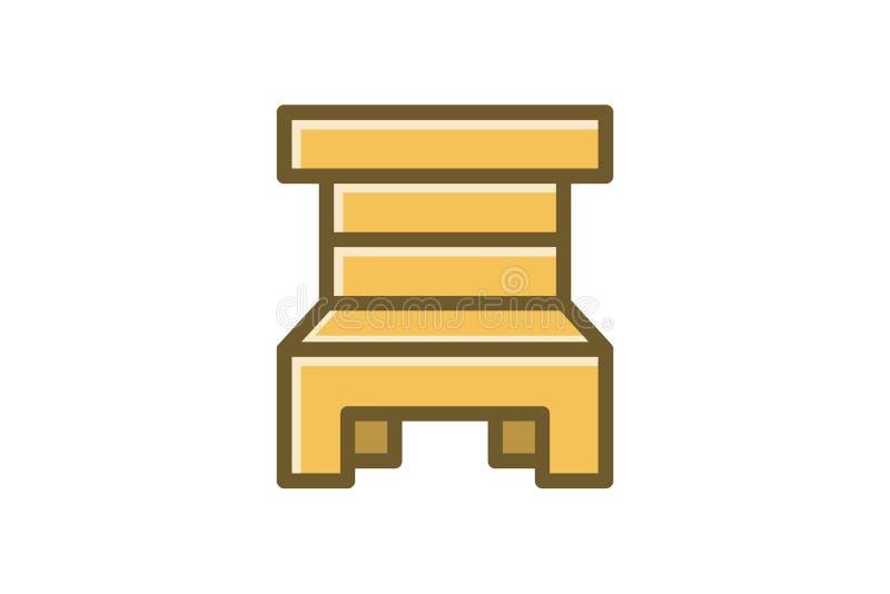 för logodesign för trästolar minimalist inspiration vektor illustrationer