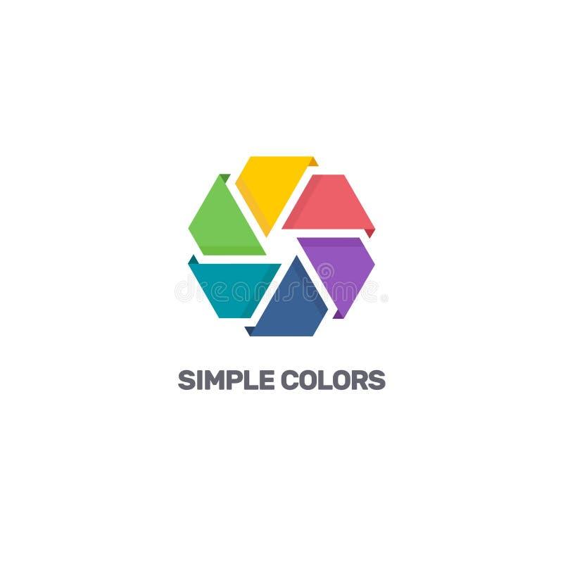 För logodesign för vektor färgglad mall för affär din blom- blomma för bakgrundsfärgdesign stock illustrationer