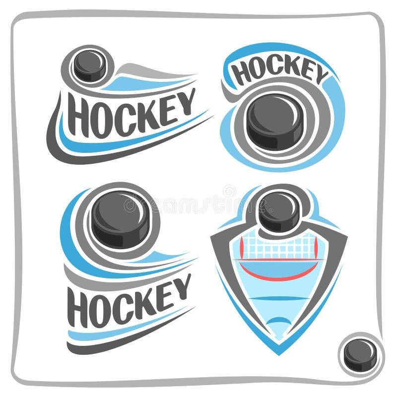 För logohockey för vektor abstrakt puck vektor illustrationer