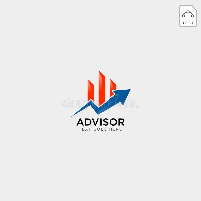 för logomall för diagram finansiell grafisk illustration för vektor royaltyfri illustrationer