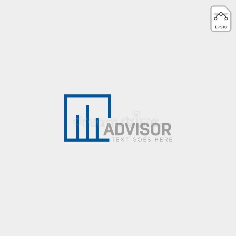 för logomall för diagram finansiell grafisk illustration för vektor stock illustrationer