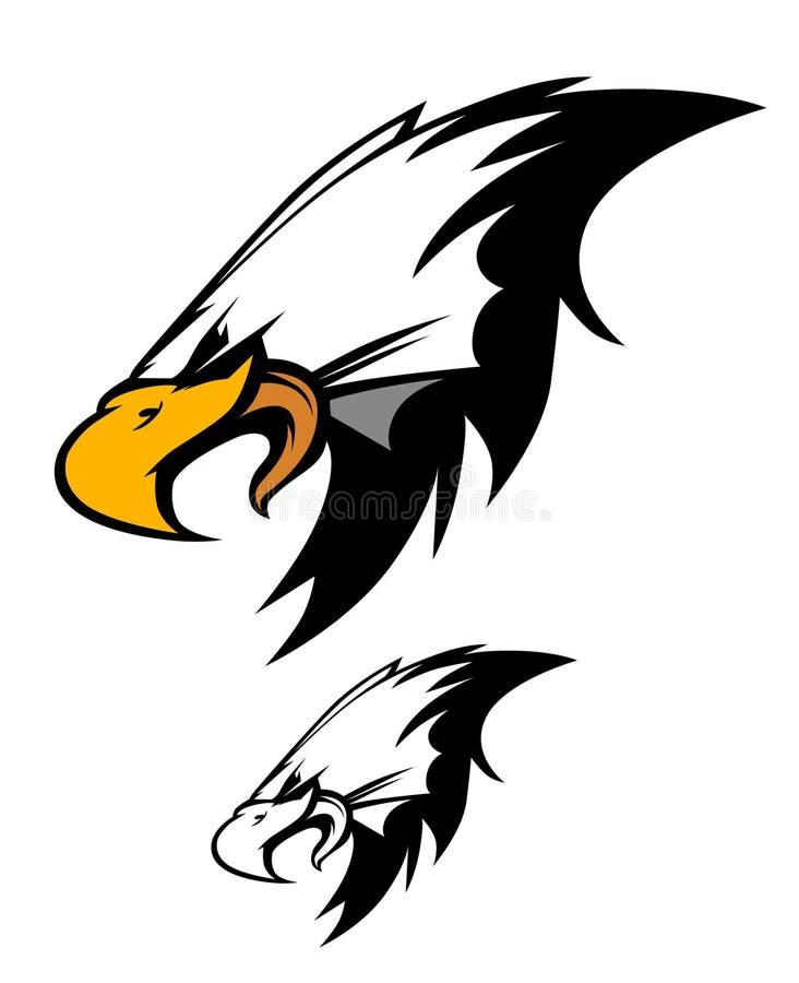 för logomaskot för örn head vektor royaltyfri illustrationer