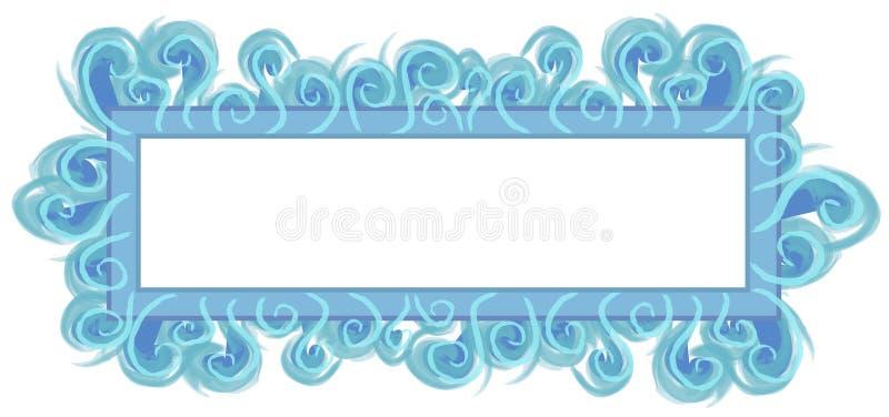 för logosida för aqua blå rengöringsduk vektor illustrationer