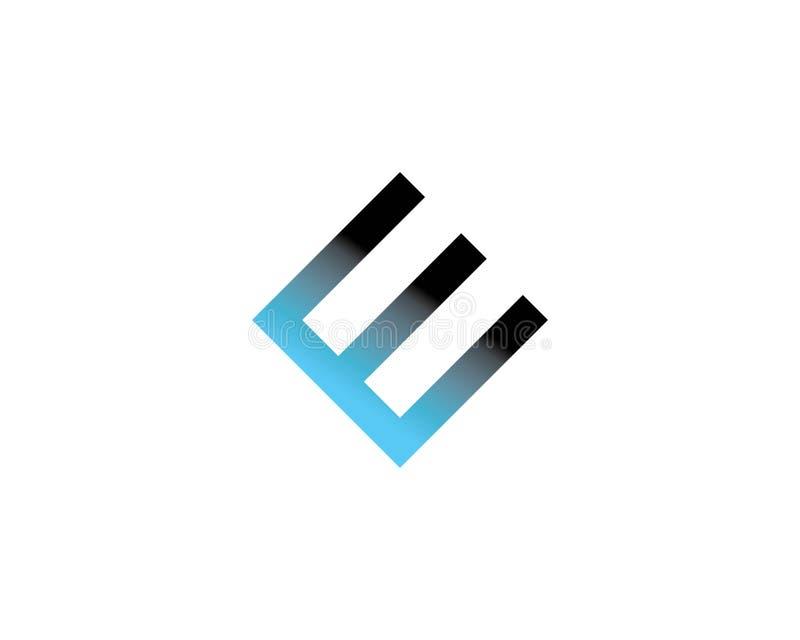 För logosymbol för bokstav E design stock illustrationer