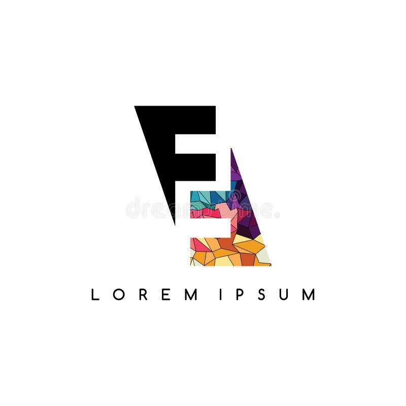 för logotyplogo för bokstav färgrikt initialt abstrakt begrepp royaltyfri illustrationer