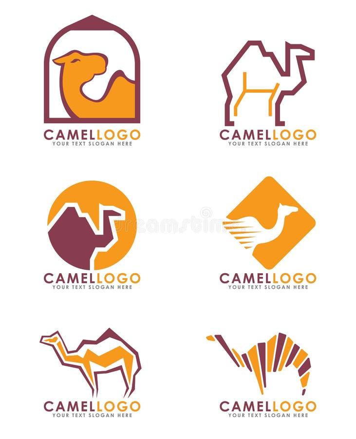 För logovektor för kamel arabisk design för konst för uppsättning stock illustrationer