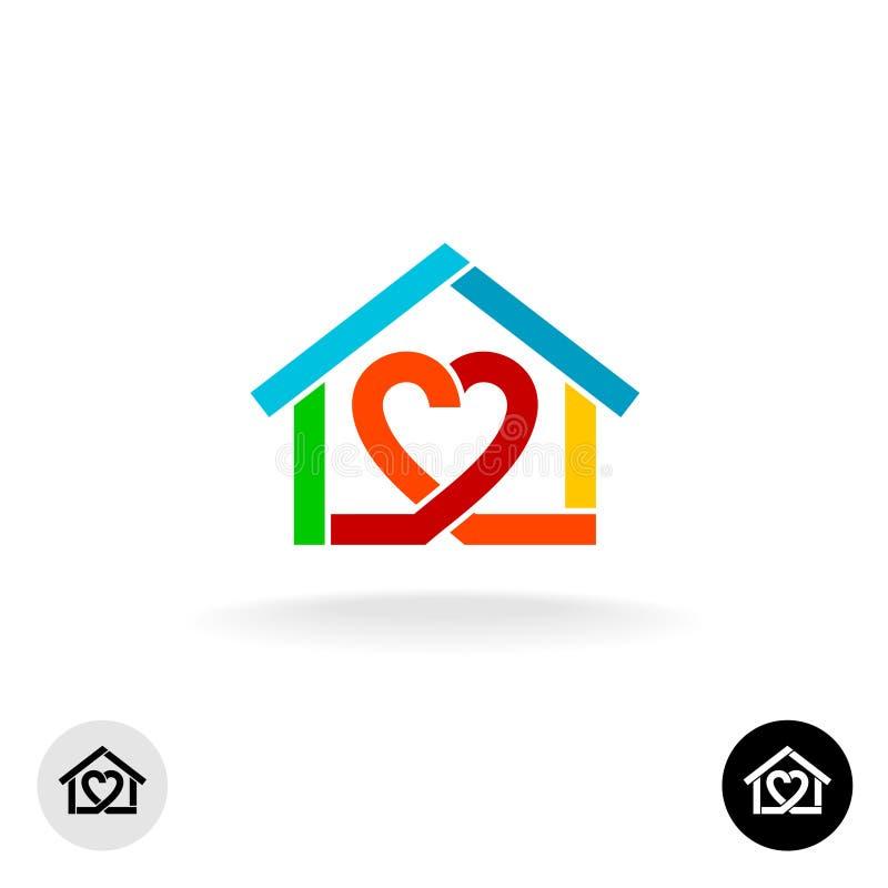 För lokalvårdservice för hem- omsorg idé för logo royaltyfri illustrationer