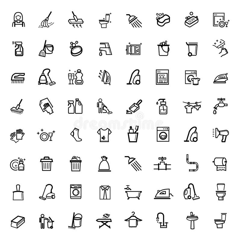 För lokalvårdsymboler för vektor svart uppsättning royaltyfri illustrationer