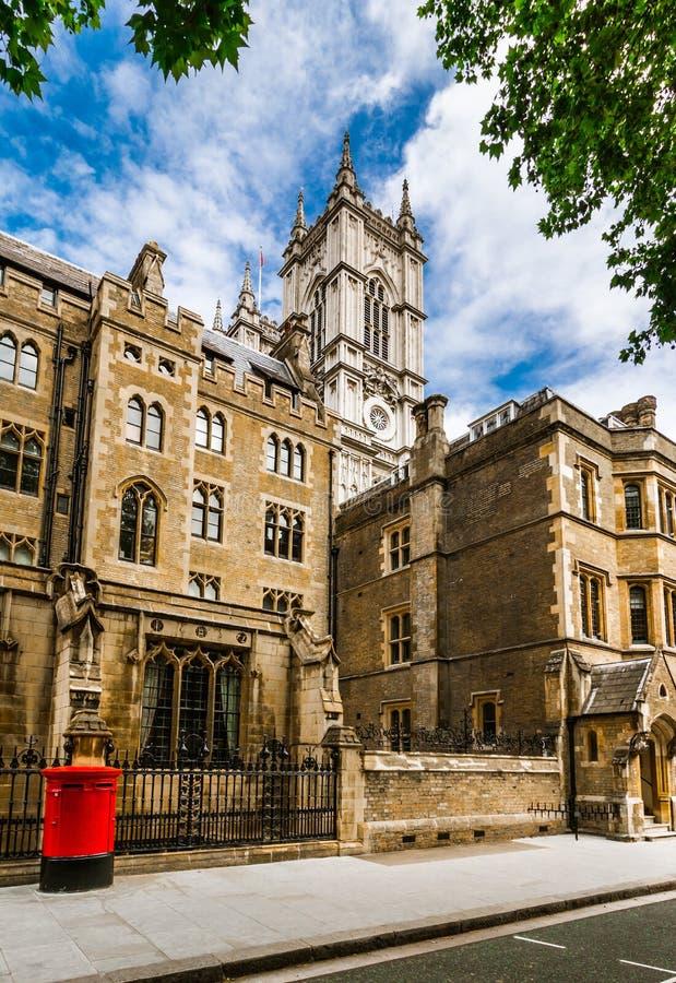 för london för abbey tillbaka sikt westminster gata arkivfoton