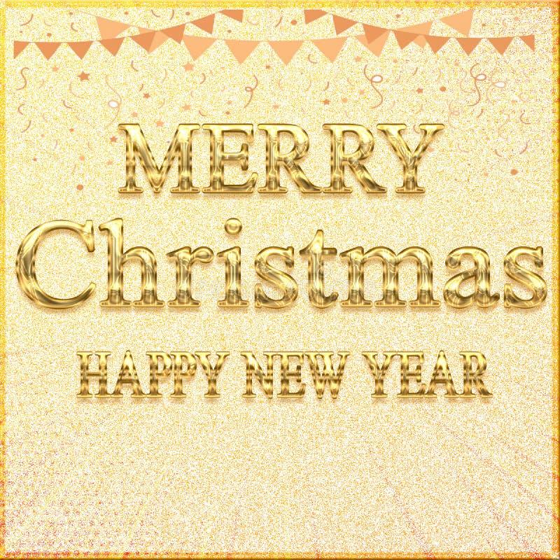 //för LYCKLIGT NYTT ÅR för GLAD JUL baner genomskinlig design för härligt för glad jul stock illustrationer