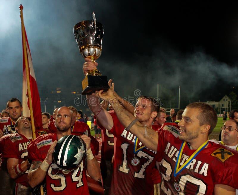 för mästerskapeuropean för 2009 american b fotboll royaltyfri bild