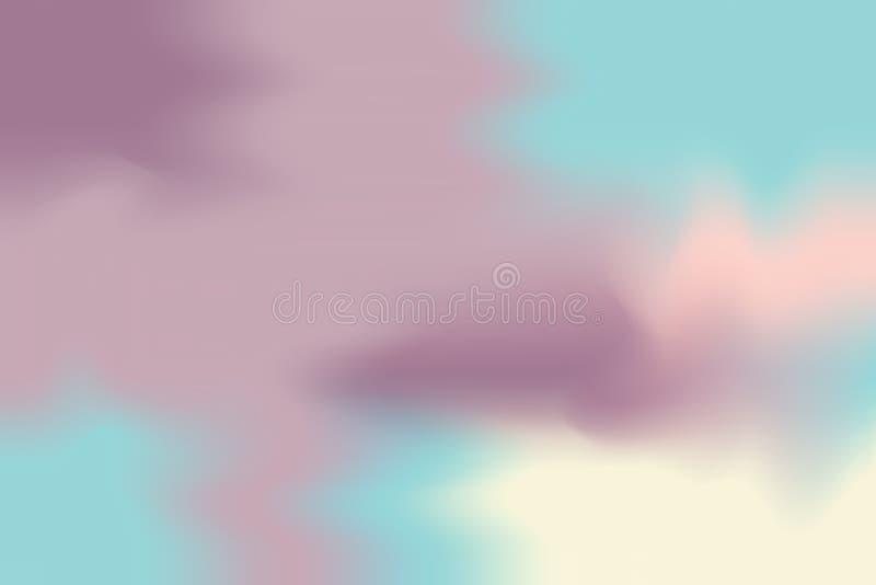 För målarfärgborste för abstrakt färgrik ljus färg mjuk bakgrund för konst, mång- färgrik pastell för tapet för färg för vatten f royaltyfri illustrationer