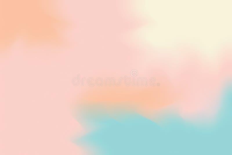 För målarfärgborste för abstrakt färgrik ljus färg mjuk bakgrund för konst, mång- färgrik pastell för tapet för färg för vatten f vektor illustrationer