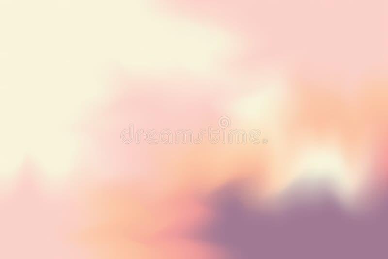 För målarfärgborste för färgrik ljus färg mjuk bakgrund för konst, mång- färgrik pastell för tapet för färg för vatten för målnin royaltyfri illustrationer