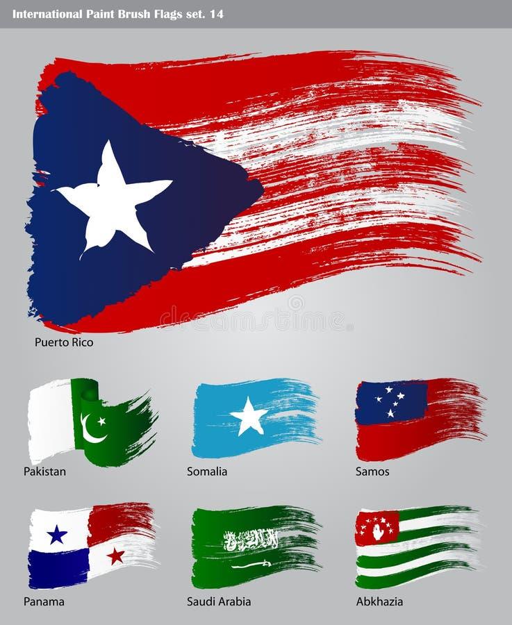För Målarfärgborste För Vektor Internationella Flaggor Arkivbild