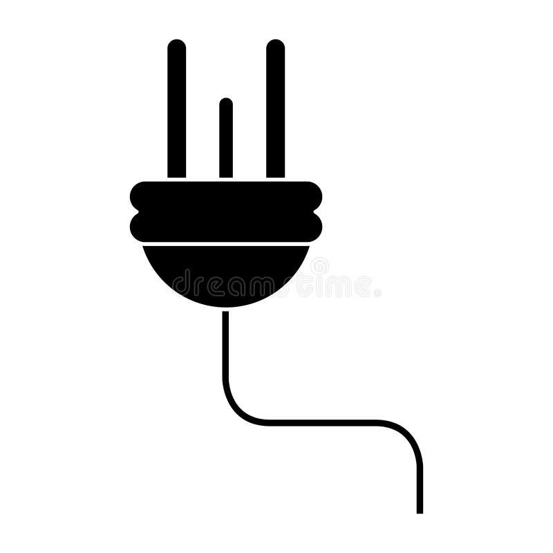 För maktenergi för elektrisk kabel pictogram för symbol royaltyfri illustrationer