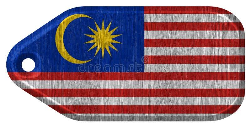 för malaysia för tillgänglig flagga glass vektor stil royaltyfria bilder