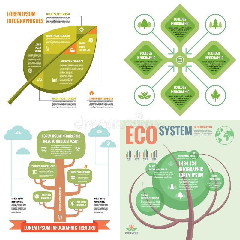 För mallbegrepp för affär infographic illustration för vektor abstrakt banerset Samling för advertizingbefordranorientering stock illustrationer