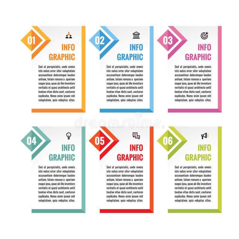 För mallbegrepp för affär infographic illustration för vektor abstrakt banervertical Samling för advertizingbefordranorientering royaltyfri illustrationer